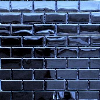 Mosaico Azul Brick Brillante 48x23