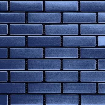 Mosaico Azul Brick Satinado 64x20