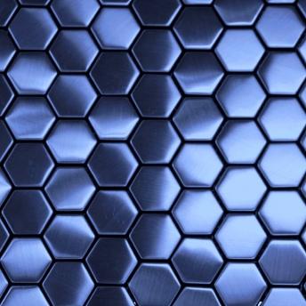 Mosaico Azul Hexa Satinado 30x30