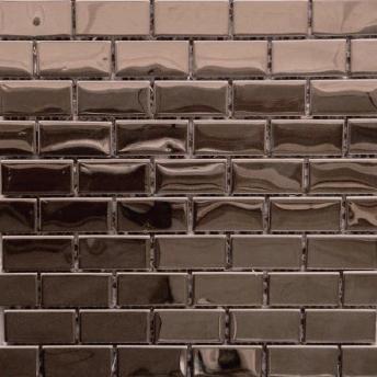 Mosaico Bronce Brick Brillante 48x23