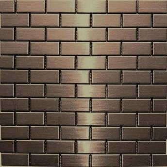 Mosaico Bronce Brick Satinado 48x23