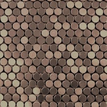 Mosaico Bronce Circle Satinado 20