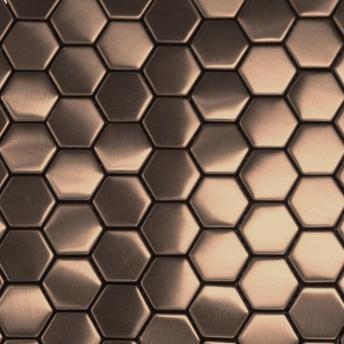 Mosaico Bronce Hexa Satinado 30x30
