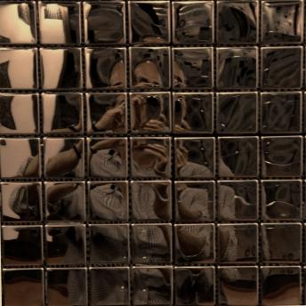 Mosaico Bronce Square Brillante 25x25