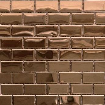 Mosaico Cobre Brick Brillante 48x23