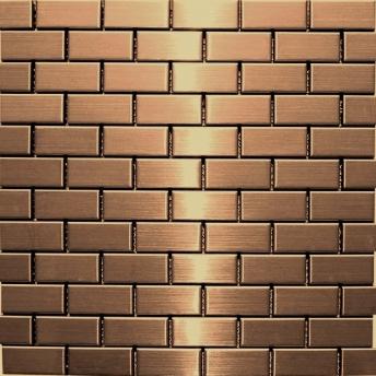 Mosaico Cobre Brick Satinado 48x23