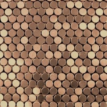 Mosaico Cobre Circle Satinado 20