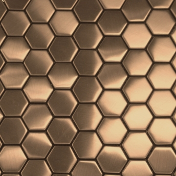 Mosaico Cobre Hexa Satinado 30x30