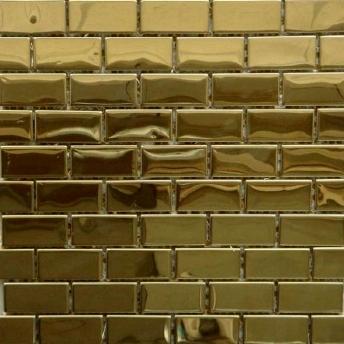 Mosaico Dorado Brick Brillante 48x23