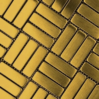 Mosaico Dorado Brick Mix Satinado 64x20
