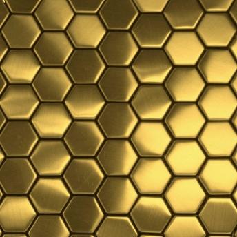 Mosaico Dorado Hexa Satinado 30x30