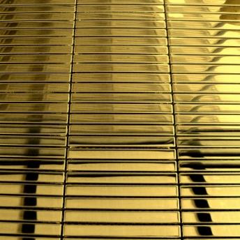 Mosaico Dorado Strap Brillante 100x10