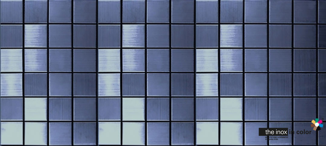 Blue Stainless Steel Mosaics