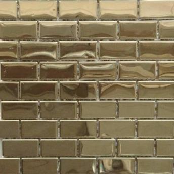 Mosaico Laton Brick Brillante 48x23