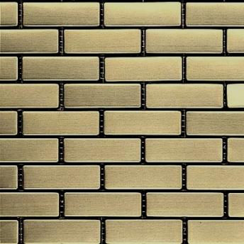 Mosaico Laton Brick Satinado 64x20