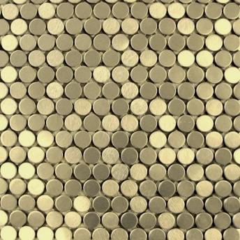Mosaico Laton Circle Satinado 20