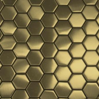 Mosaico Laton Hexa Satinado 30x30
