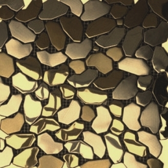 Mosaico Laton Pebbles Brillante
