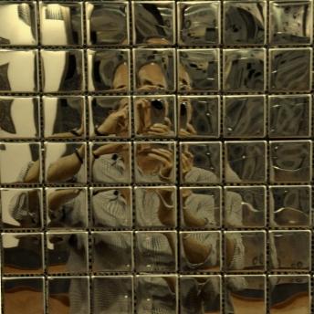 Mosaico Laton Square Brillante 25x25