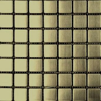 Mosaico Laton Square Satinado 20x20