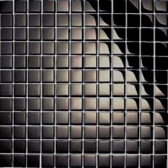 Mosaico Negro Square Brillante 15x15
